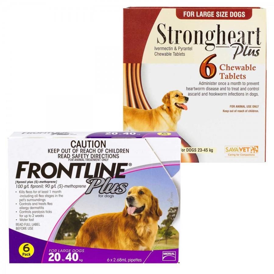 ストロングハートチュアブルとフロントラインプラス大型犬用