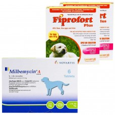 ミルベマイシンA錠とフィプロフォートプラス小型犬用