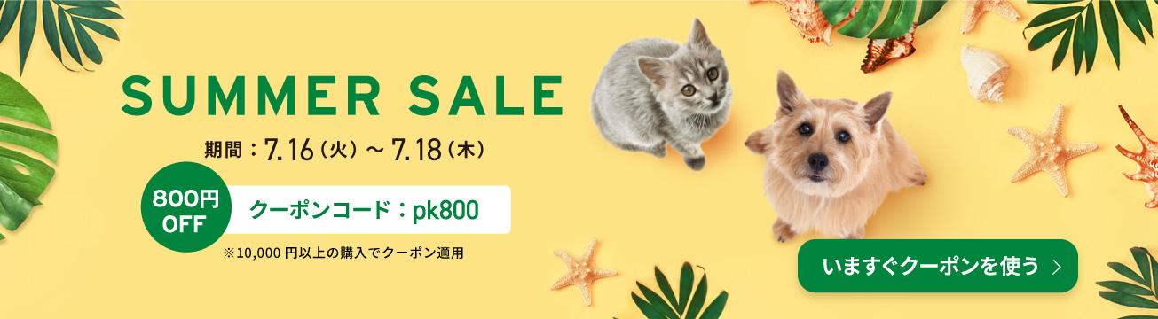 夏セール800円OFF