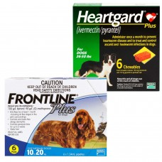 フロントラインプラスとハートガード中型犬用