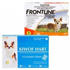 キウォフハートとフロントラインプラス小型犬用