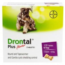 ドロンタールプラスフレーバー犬用120錠