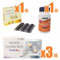 コロナ予防プロトコル(イベルメクチン6mg60錠/ ビタミンD/ マルチビタミン)