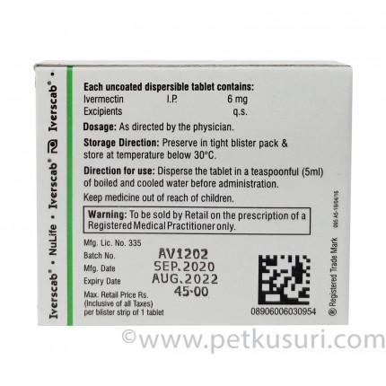 イベルメクチン6mg4錠