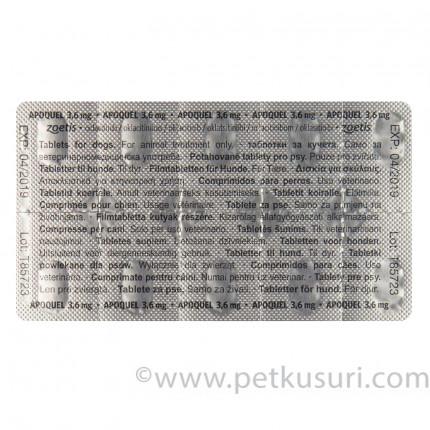 <アウトレット品・10%OFF>アポクエル(アポキル錠)3.6mg20錠