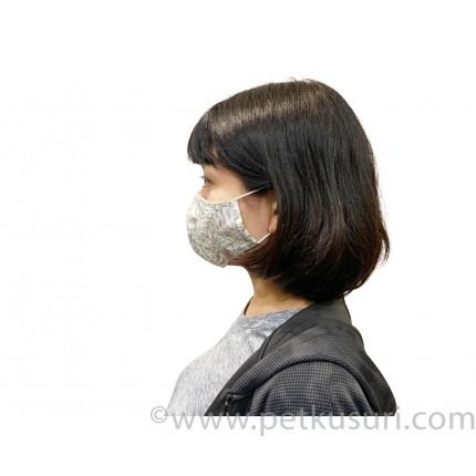 呼吸快適!洗える立体マスク(女性用グリーンxホワイト)