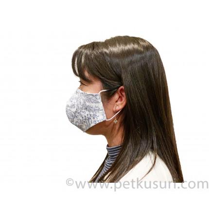 呼吸快適!洗える立体マスク(女性用ブルーxホワイト)