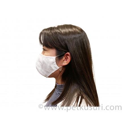呼吸快適!洗える立体マスク(女性用ホワイト)