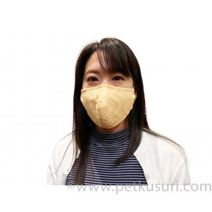 呼吸快適!洗える立体マスク(女性用オレンジ)