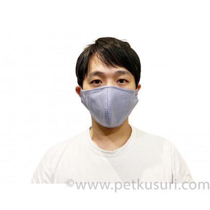 呼吸快適!洗える立体マスク(男性用ダークブルー)