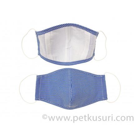 呼吸快適!洗える立体マスク(男性用ブルー)