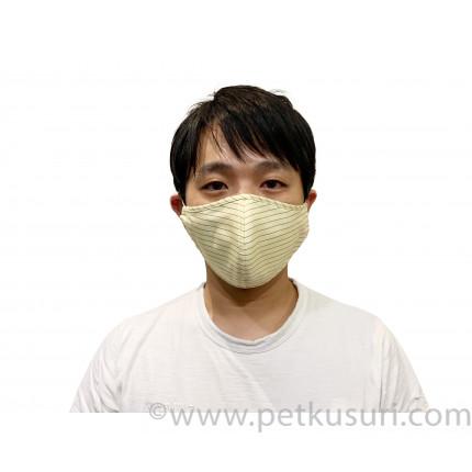 呼吸快適!洗える立体マスク(男性用イエロー)