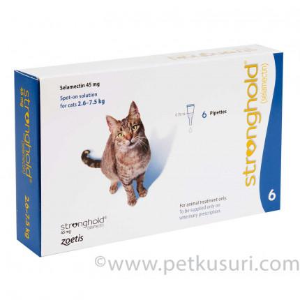 ストロングホールド猫用6本(レボリューション欧州版)