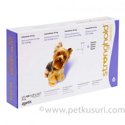 ストロングホールド超小型犬用6本(レボリューション欧州版)