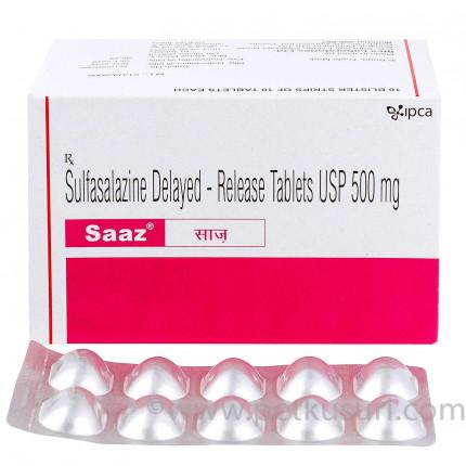 スルファサラジンジェネリックSaaz500mg