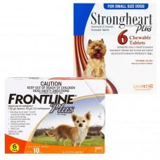 ストロングハートチュアブルとフロントラインプラス小型犬用