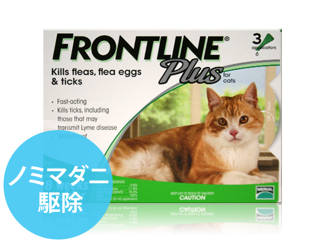 フフロントラインプラス猫用3本