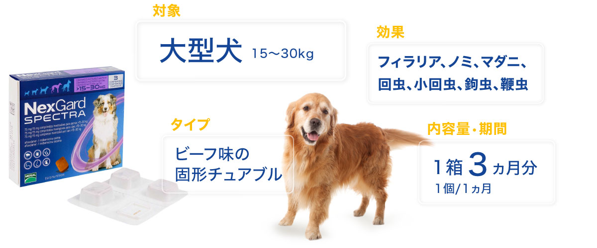 ネクスガードスペクトラ大型犬用の特徴